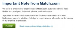 Match terms of service update