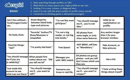 OkCupid Bingo Game