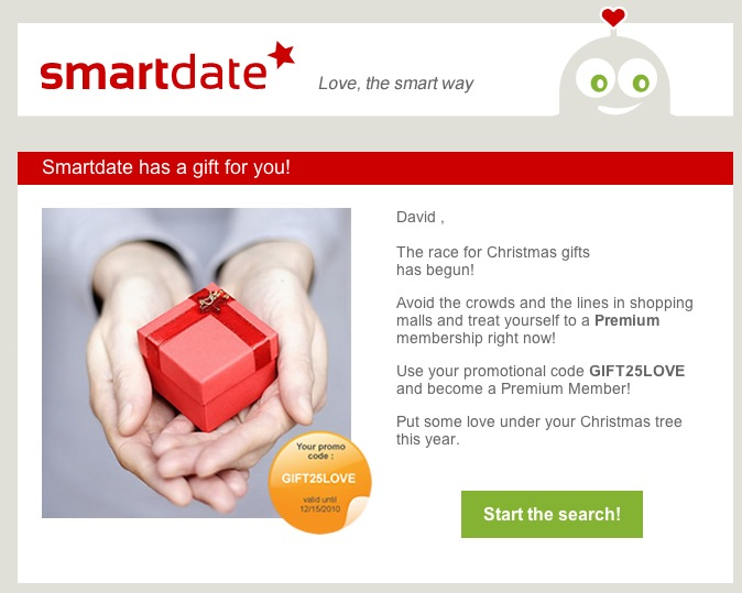 SmartDate Holiday incentive