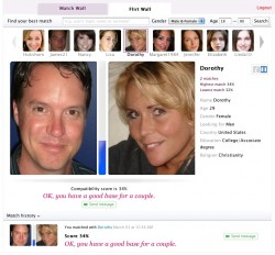Face recognition dating website