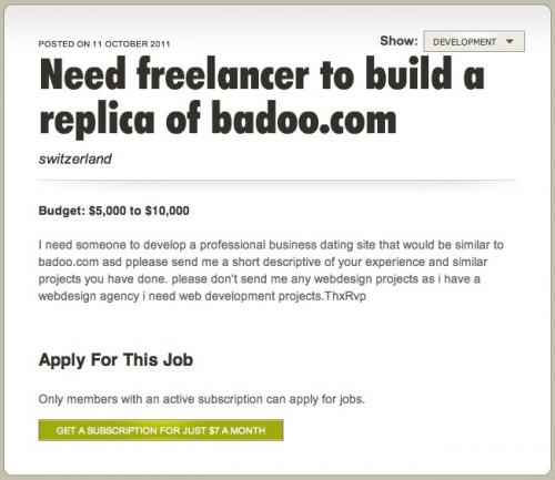 badoo clone development cost