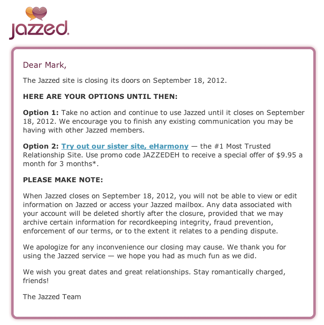 Jazzed dating site review
