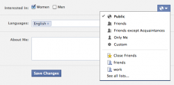 facebook dating settings