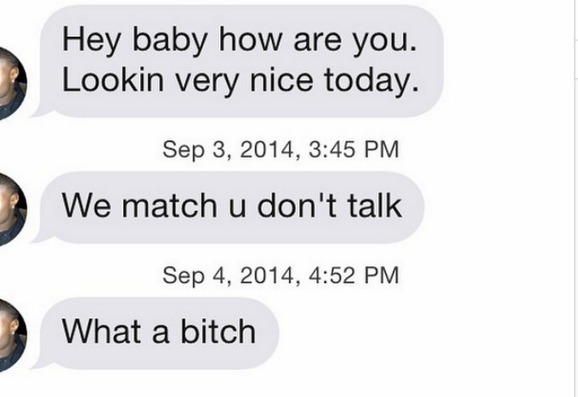 Even More Awful Tinder and OkCupid Messages: 'Let Me F*** That A******'