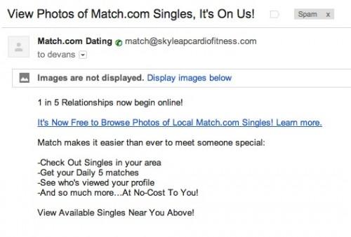 match affiliate spam