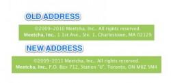 meetcha address change