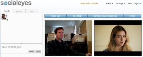 social eyes facebook video chat